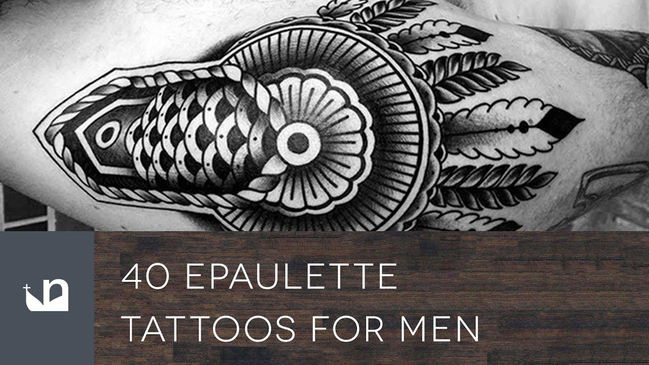 40 Epaulette Tattoo Designs For Men – Ornamental Shoulder Ink Ideas