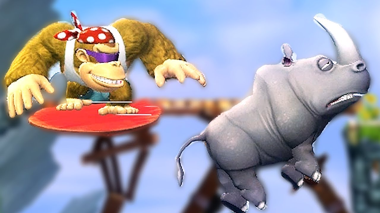 Funky Kong Doesn't Need Rambi the Rhino (Donkey Kong Country Tropical Freeze Switch)