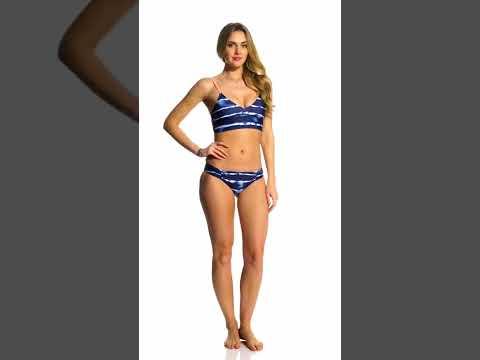 baa550da237bb Ella Moss Stella Solid Tunnel Tie Side Bikini Bottom | SwimOutlet ...