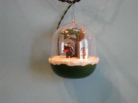 Hallmark Magic Motion QLX7219 Forest Frolics #3 Christmas Ornament