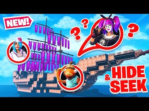 PIRATE SHIP in FORTNITE Hide and SEEK map!