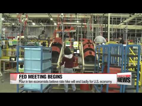 U.S. Federal Reserve begins two-day meeting ahead of expected rate hike