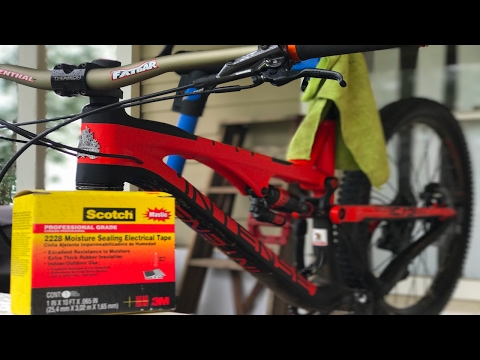 Tony's Investment, Protection Bike Hacks Ep. 1- Protecting your carbon MTB frame #bikehack #tips