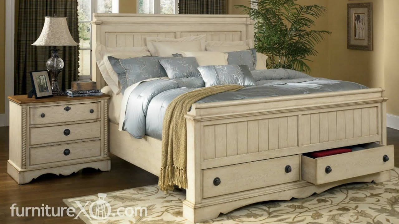apple valley bedroom set by ashley furniture - youtube
