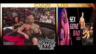 WWE Entertainment Satar Edge and Lita Edge and Lita in Bed RAW Celebration WWE Special