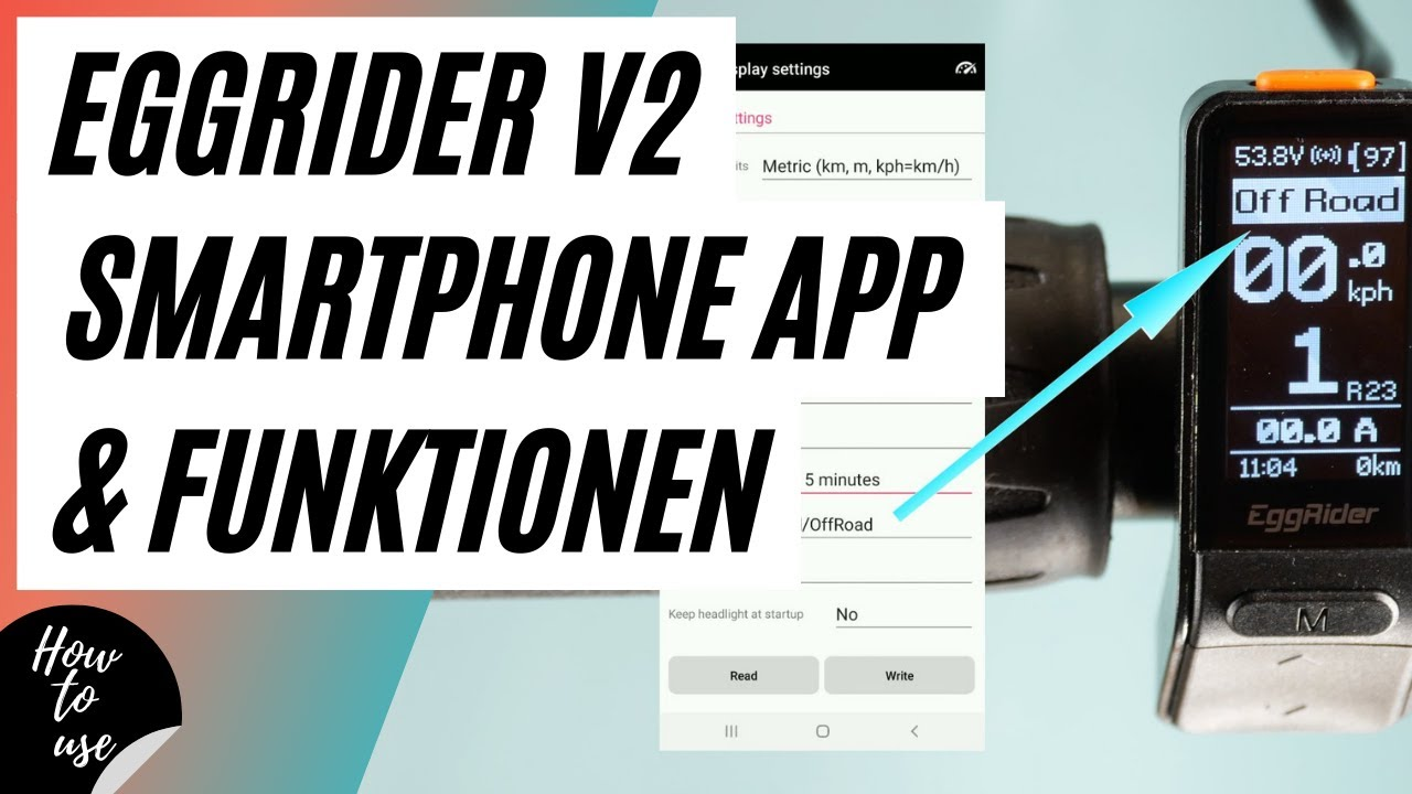 Details about  /EggRider V2 Bluetooth eBike display suitable for Rad Power Bikes