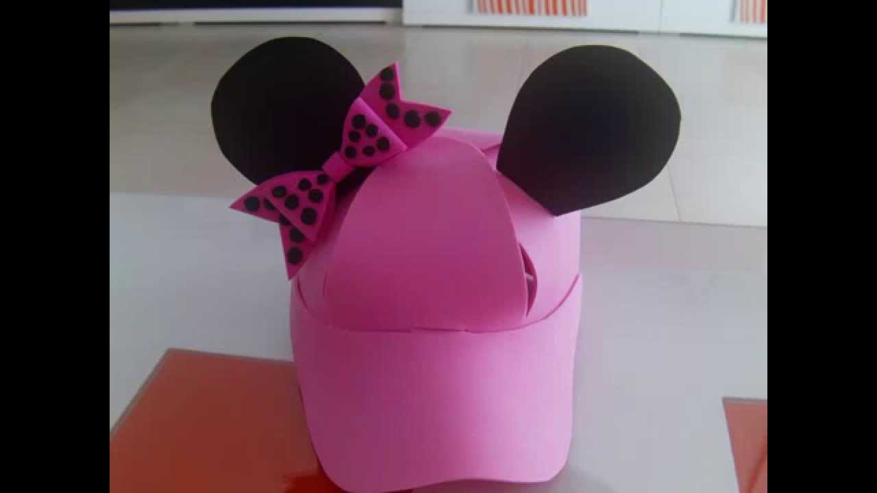Tutorial Gorra de Minnie Mouse con plantilla - YouTube 1bad85e466f