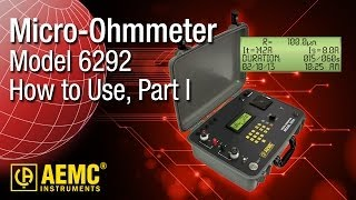 aemc 6292 micro ohmmeter part 1 how to setup and take measurement from front panel controls