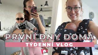 TÝDENNÍ VLOG #60| První dny doma s miminkem