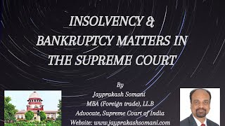 admin/ajax/Insolvency & Bankruftcy Matters in the Supreme Court