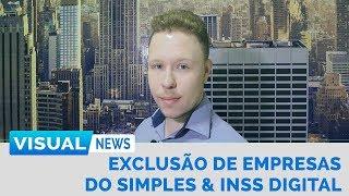 EXCLUSÃO DE EMPRESAS DO SIMPLES & INSS DIGITAL | Visual News
