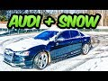 AUDI S4 MEETS SNOW FOR THE FIRST TIME