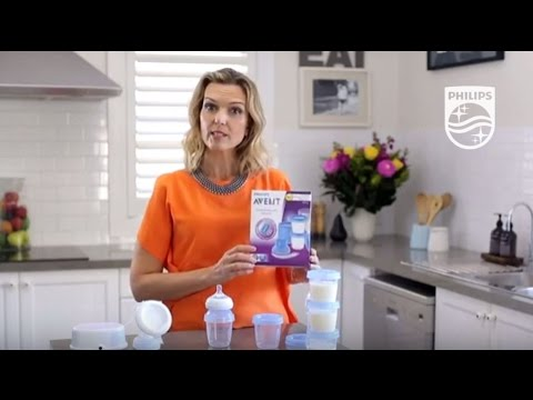 How to store milk in the AVENT Storage cup system | Philips | SCF612