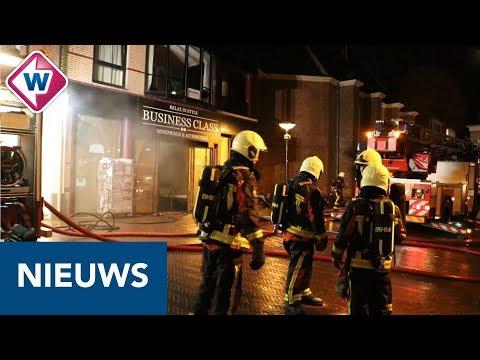 Brand verwoest beddenzaak in Noordwijk
