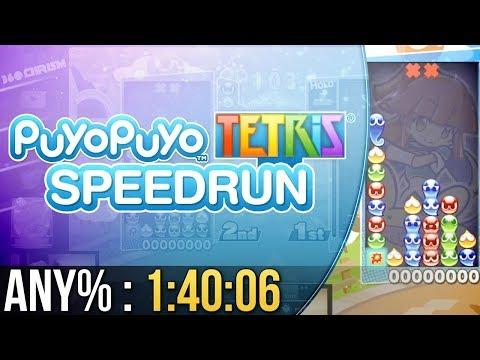 Puyo Puyo Tetris Any% Speedrun in 1:40:06