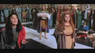 Yul Brynner Gina Lollobrigida e il nome di GEOVA (episodio re Salomone e la disputa  fra due madri)