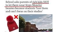 48d79d0c School tells parents NOT to let them wear $350 Moncler beanies - Duration:  2 minutes, 56 seconds.