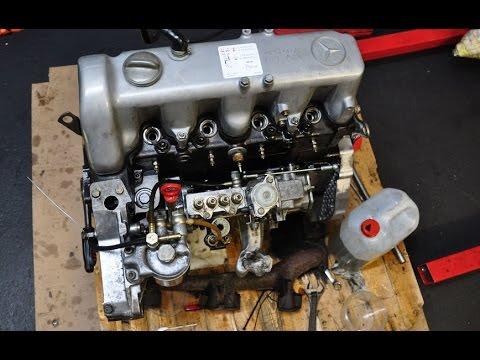 УазТех: Сборка двигателя Om616, ЧАСТЬ 7 - Первый запуск, проверка зажигания дизельным стробоскопом