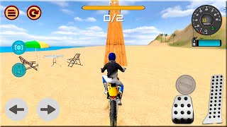 Motocross Beach Race Jumping 3D #Dirt Motor Cycle Racer Game - Android Gameplay
