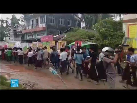القوميون البوذيون في بورما يتظاهرون ضد توطين المسلمين الروهينغا