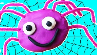 Play Doh | How to Make Play Doh Spider | Incy Wincy Spider Play-Doh Creations