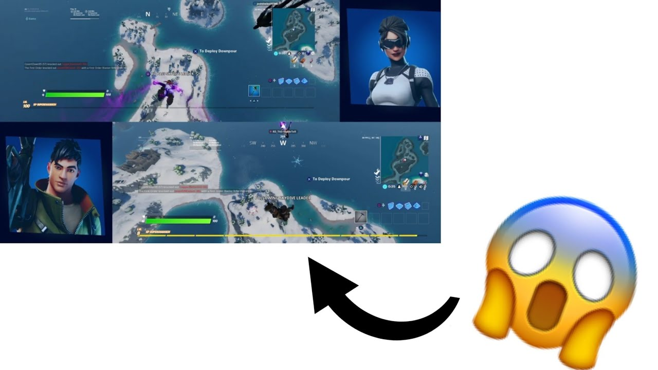 How To Split Screen In Fortnite (PS4) - YouTube