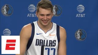Luka Doncic looking forward to playing against his idol LeBron James | NBA Media Day | ESPN