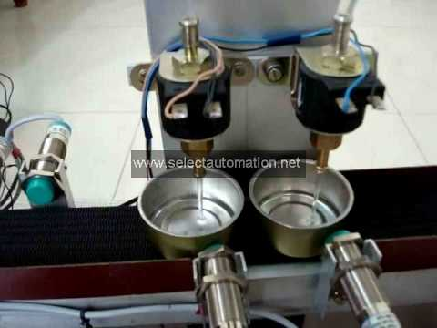 Final year Mechanical Engineering BE BTECh ME MTECH Automatic Bottle  filling machine using PLC  avi