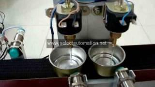 Final year Mechanical Engineering BE BTECh ME MTECH Automatic Bottle filling machine using PLC .avi