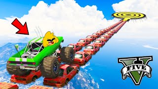 GTA 5 ONLINE: CARRERA 99% IMPOSIBLE con MONSTER TRUCK!! 😱🏆 MIKECRACK vs SPARTA vs RAPTOR