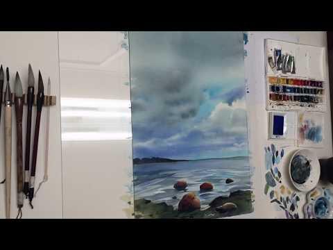 "Watercolor ""Gulf of Finland"""