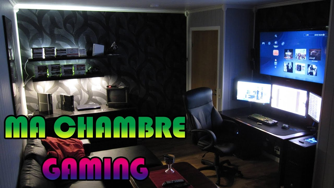 ma chambre gaming j 39 ai repris ma chambre youtube. Black Bedroom Furniture Sets. Home Design Ideas