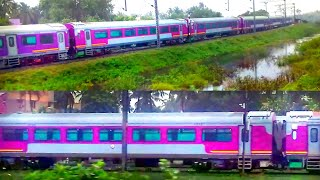AC LHB DEMU rake For the Kashmir Valley Railways!|First Sight!|ICF Factory outskirts|Indian Railways