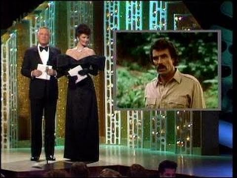 Tom Sellack Wins Best Actor TV Series Drama  Golden Globes 1985
