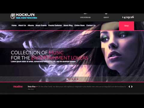 WordPress Music Themes Presents: RockOn, A Multipurpose Music Website Template for Artists