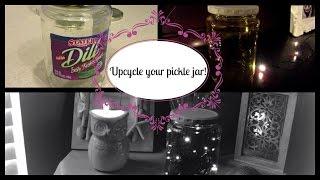 Diy Upcycle Reuse Pickle Jars Youtube