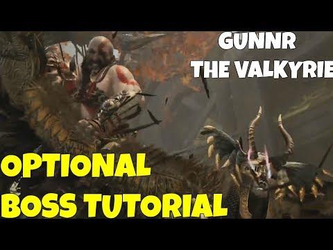 God of War- OPTIONAL boss Tutorial: Gunnr The Valkyrie!