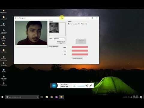 Face Attendance system | Face detection system in c# Visual Studio