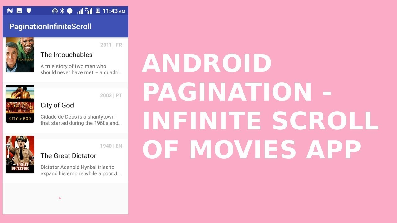 ANDROID PAGINATION - INFINITE SCROLL OF MOVIES APP