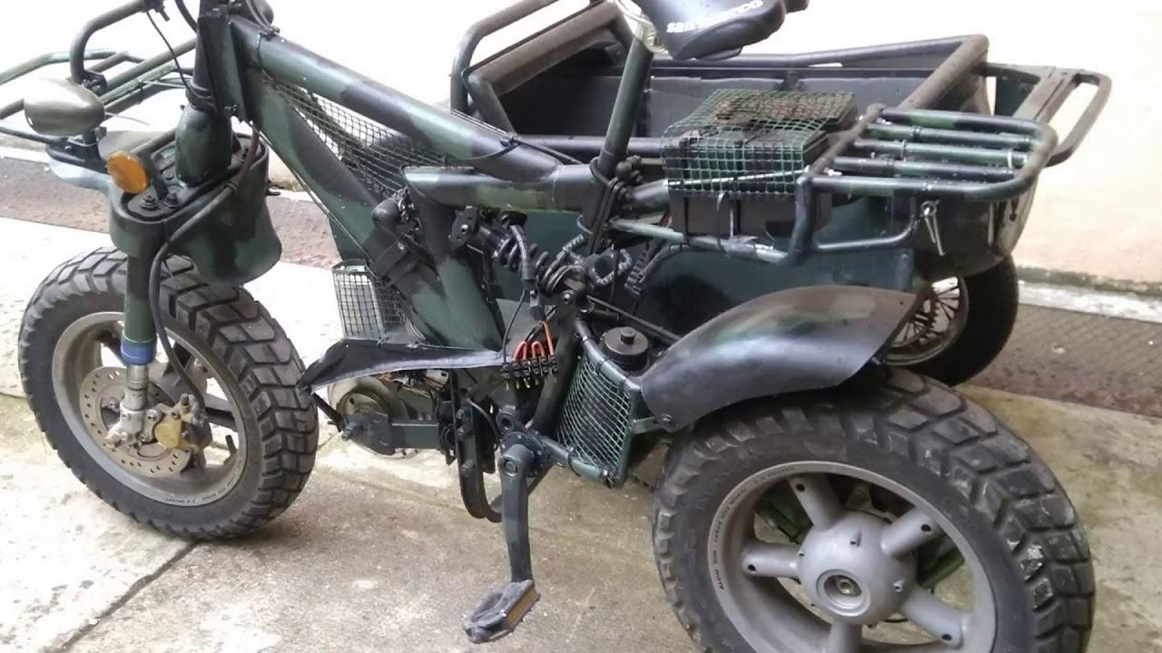 Bici A Tre Ruote Sydecar Con Motore Elettrico