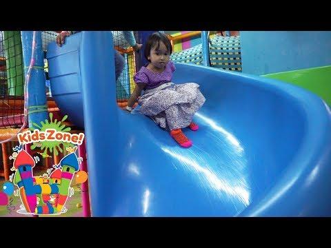 Mainan di Taman Bermain Anak 💖 Main Perosotan Mandi Bola Kids Zone Playground 💖 Let's Play Jenica 💖