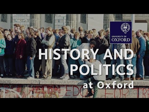 History and Politics at Oxford University