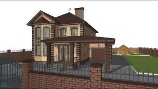 Типовой проект жилого двухэтажного жилого дома с гаражом и навесом  C-055-ТП(, 2016-10-24T08:21:00.000Z)