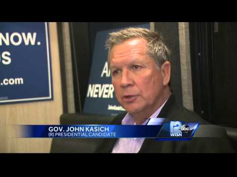 Kasich makes campaign stop in Wauwatosa