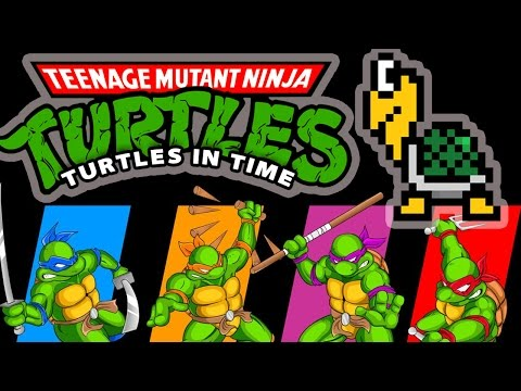 TMNT Turtles in Time - Sewer Surfin' (80s Synth Remix)