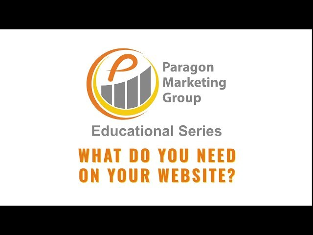 What do you need on your website?
