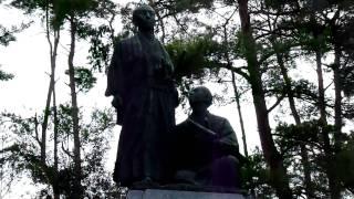 吉田松陰・金子重輔の銅像
