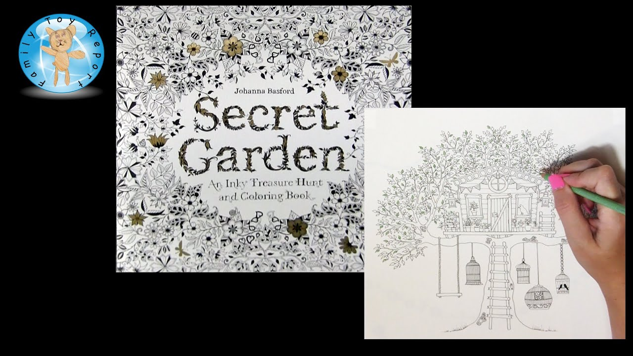 Secret Garden Johanna Basford Adult Coloring Book Tree House Prismacolor Pencils