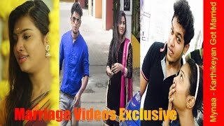 Vijay TV Mynaa (Nandhini) - Karthikeyan Marriage Videos Exclusive