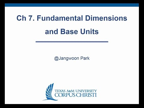 Ch 7.  Fundamental Dimensions and Base Units